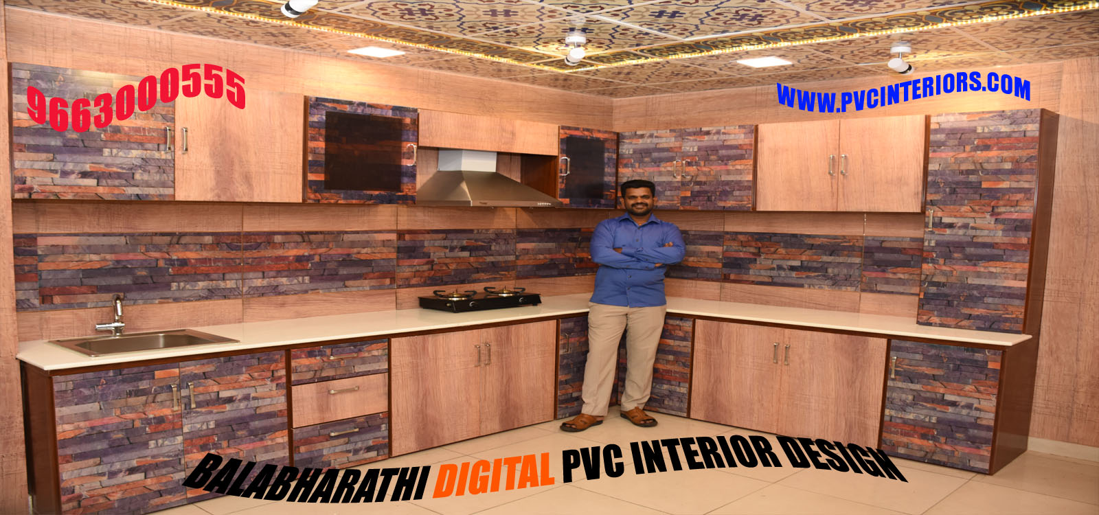 Digital Modular Kitchen Wallpanel Design