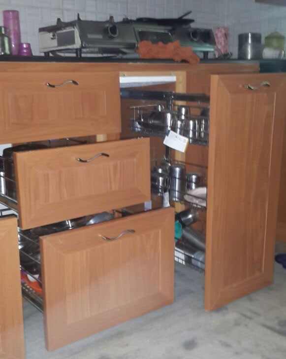 Interiors In Bangalore. Kitchen Cabinets