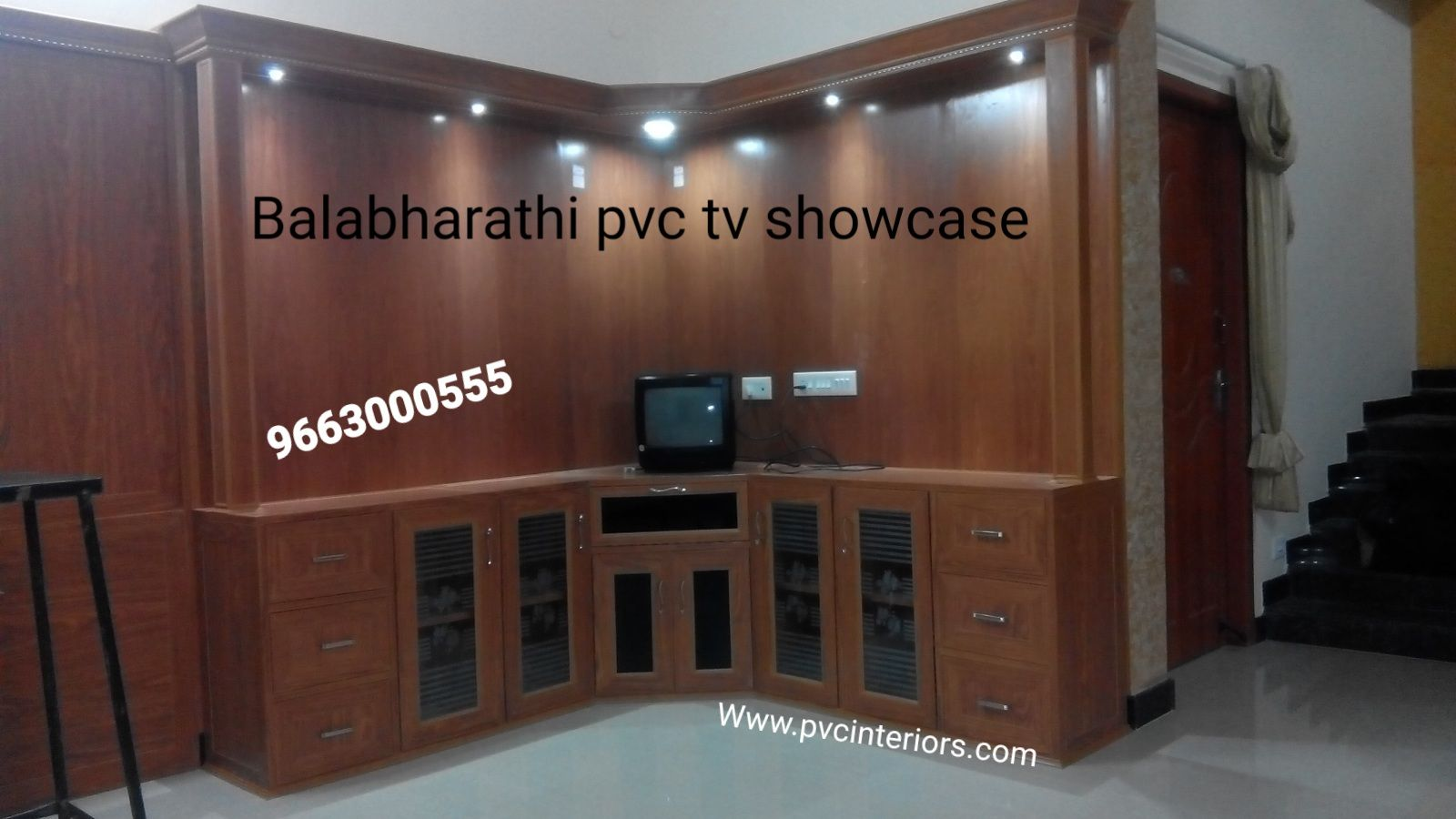 LED tv showcase pvc