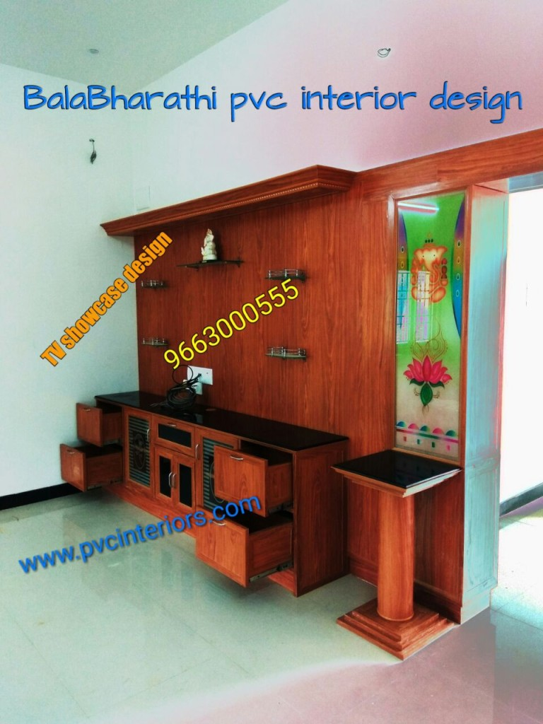 pvc digital tv showcase design