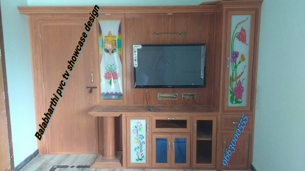 tv showcase design pvc