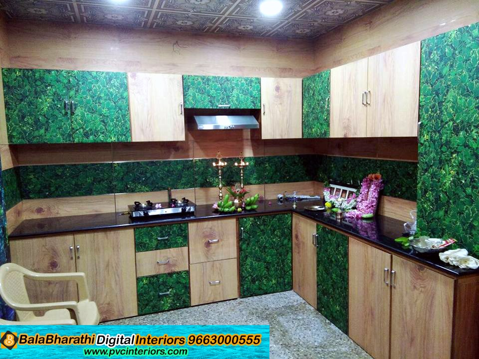 digital modular kitchen balabharathi pvc interior design salem chennai bangalore. Black Bedroom Furniture Sets. Home Design Ideas