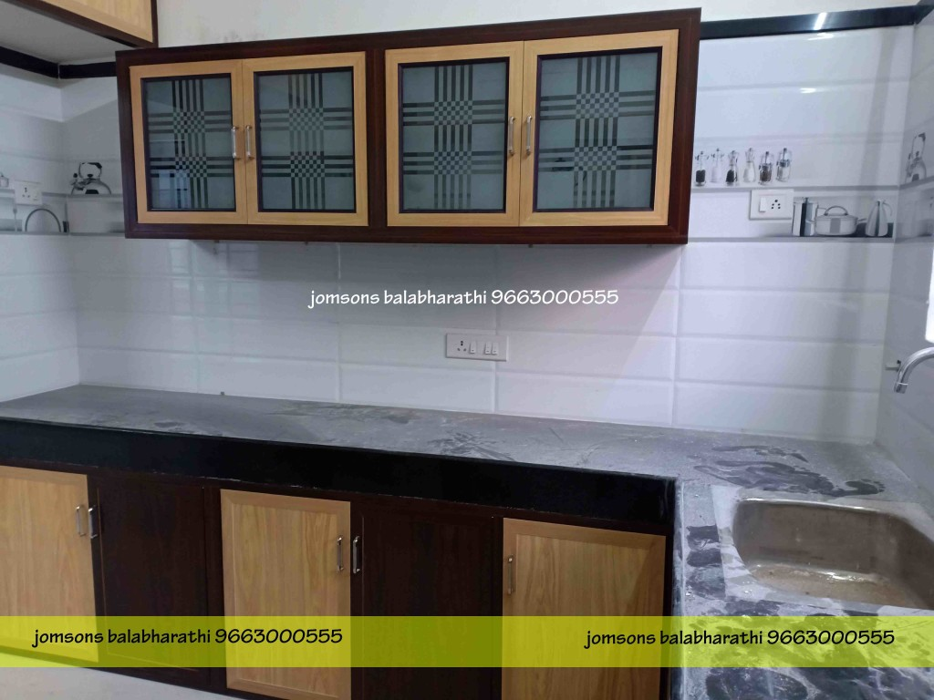 pvc kitchen glass door work in palani