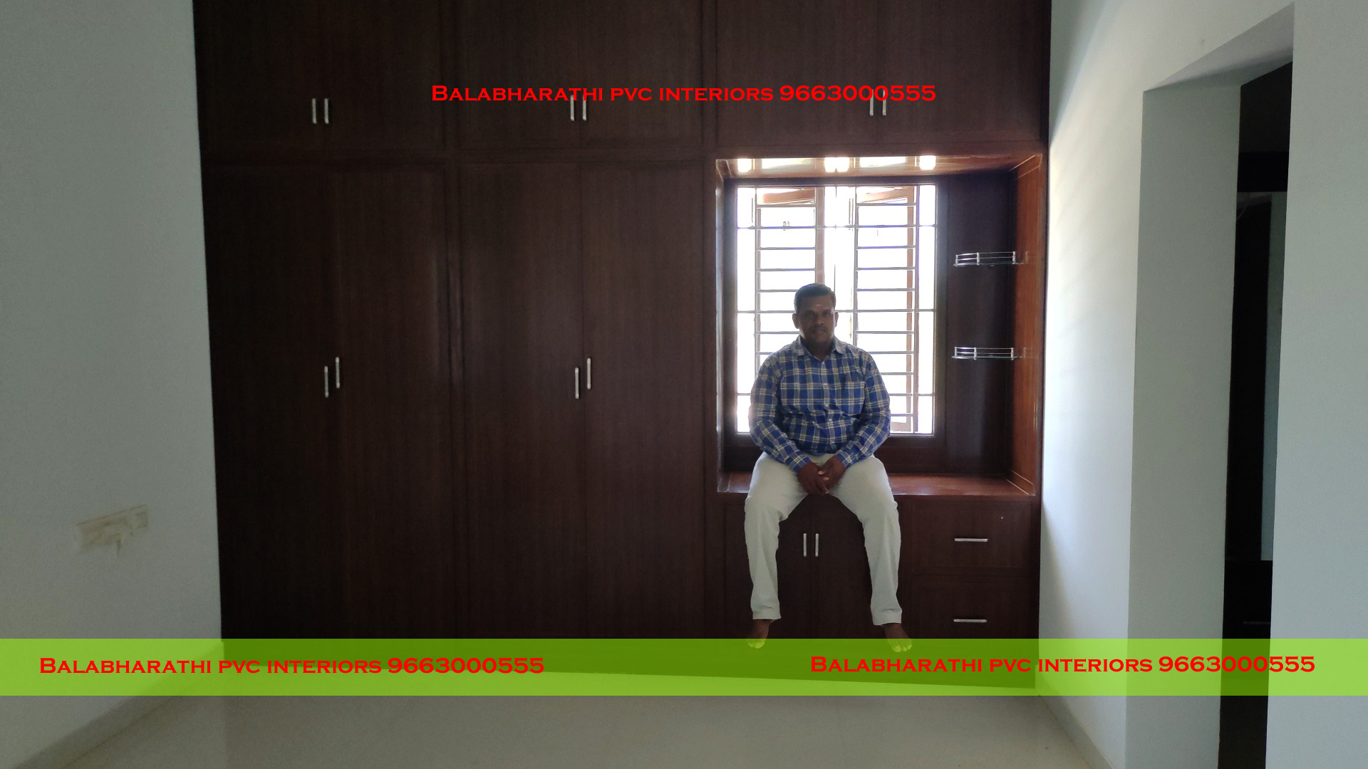 pvc wardrobe work in sangakiri